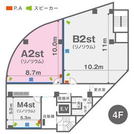 A2st(4F)レイアウト図