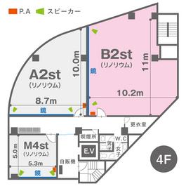 B2st(4F)レイアウト図