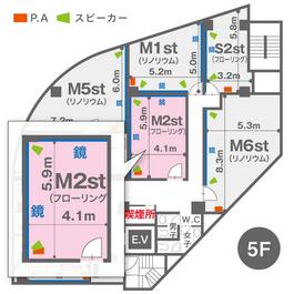 M2st(5F)レイアウト図