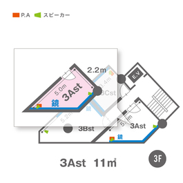 3Ast(3F)レイアウト図