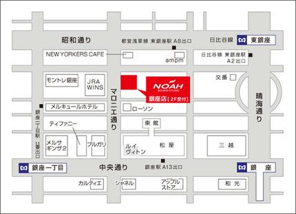 銀座スタジオ地図