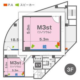M3st(3F)レイアウト図