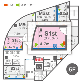 S1st(5F)レイアウト図
