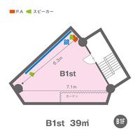 B1st(B1F)レイアウト図